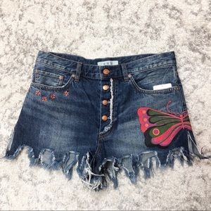 Free People - We The Free Jean Shorts Sz 28 NWT